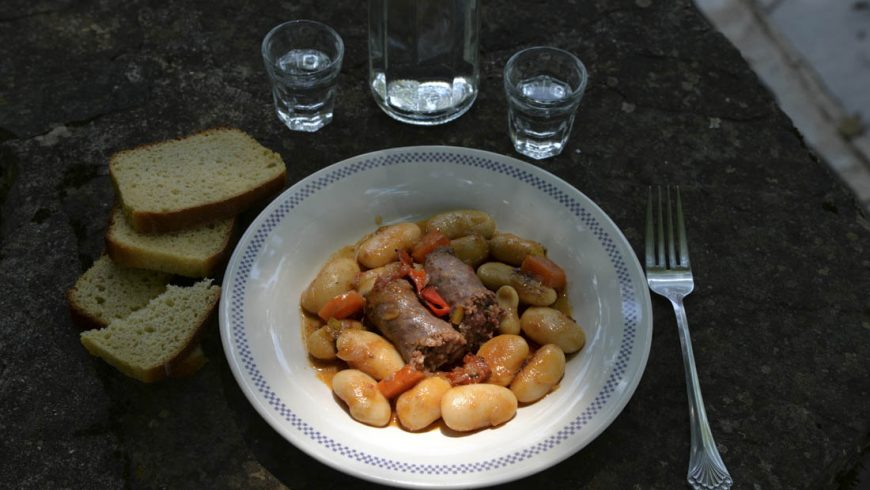Lima beans with boubari Old, from Pelion village recipe